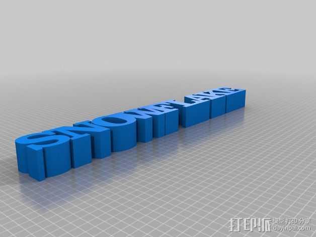 3D文本 3D打印模型渲染图