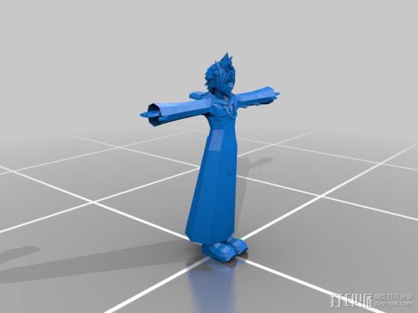 穿宽斗篷的洛克萨斯 3D打印模型渲染图