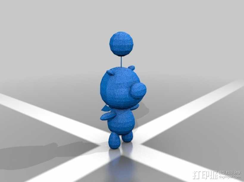 Moogle莫古利 3D打印模型渲染图