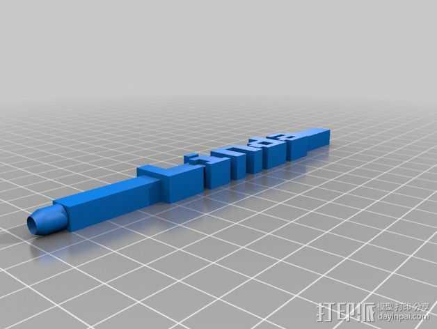 Linda铅笔套 3D打印模型渲染图