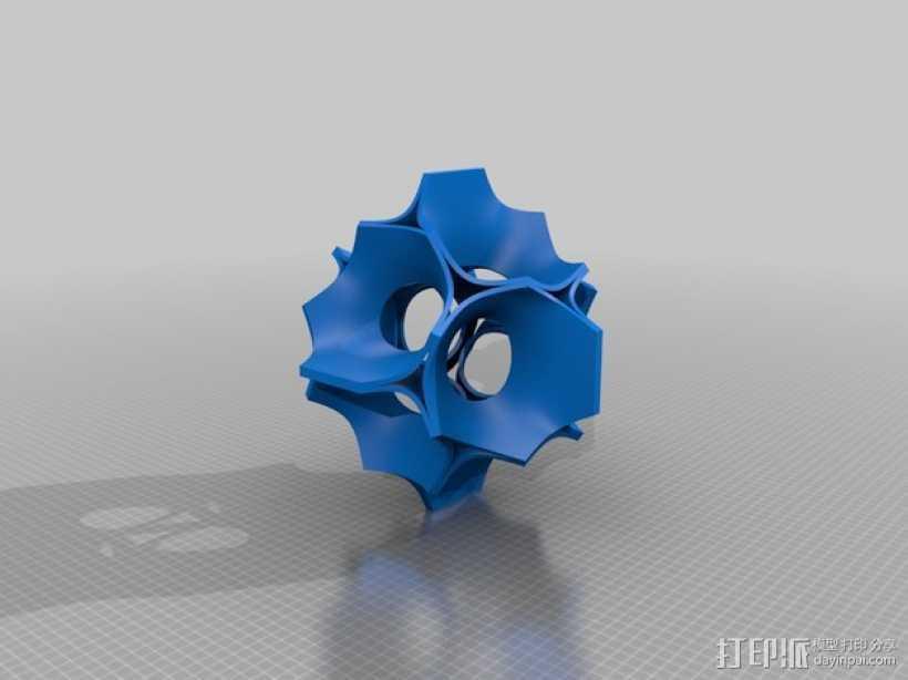 模块化晶体外壳 3D打印模型渲染图