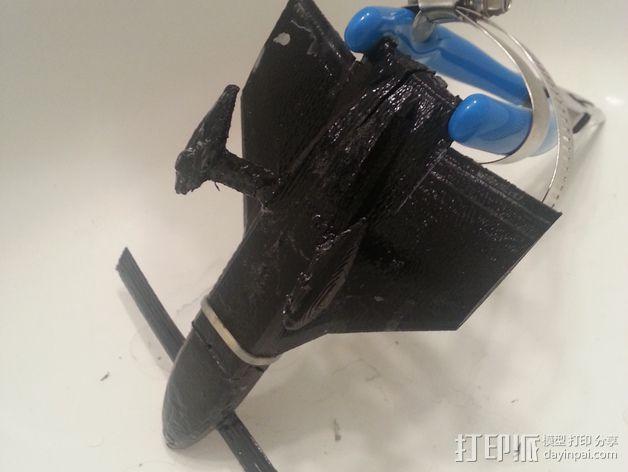 长翼滑翔机 3D打印模型渲染图