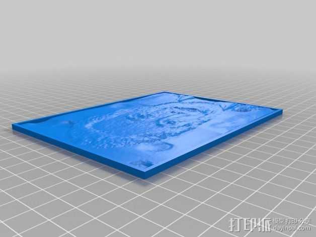 伊隆·马斯克人像透光浮雕 3D打印模型渲染图
