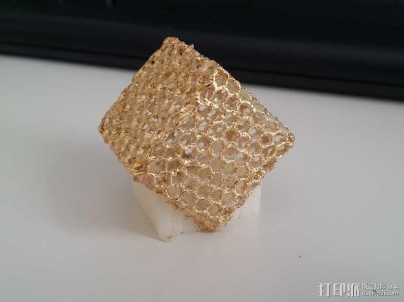镂空立方体 3D打印模型渲染图