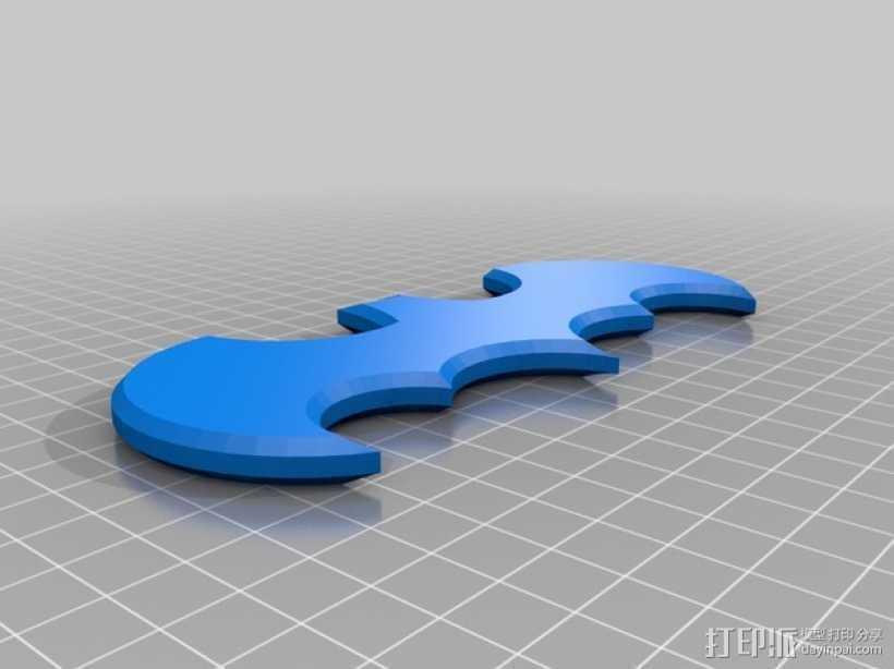 蝙蝠侠Logo 3D打印模型渲染图