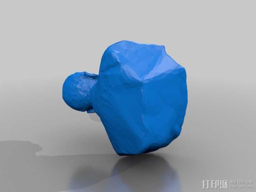 福泽谕吉 3D打印模型渲染图