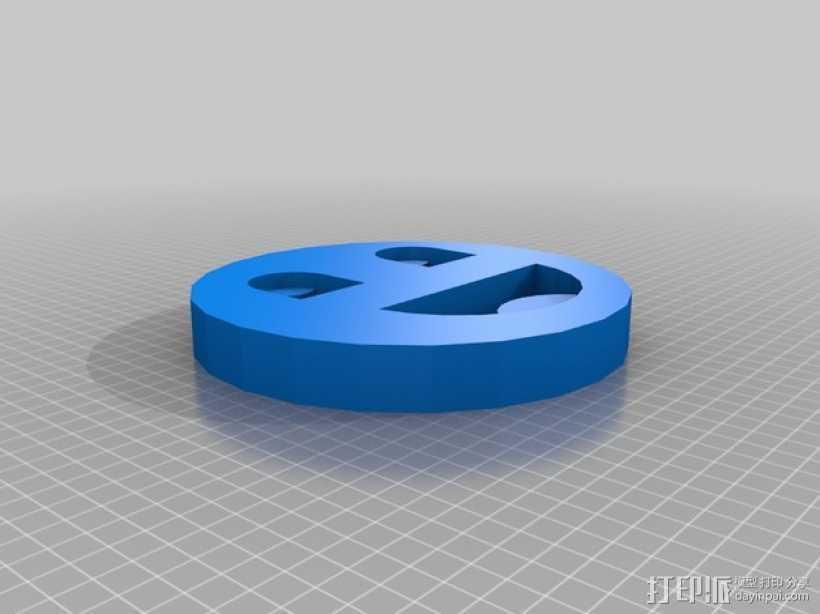 卡通笑脸符 3D打印模型渲染图
