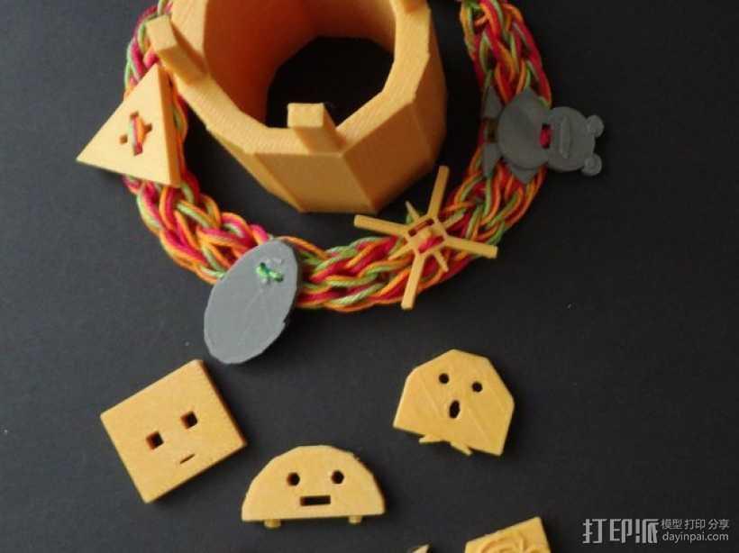 奇形怪状的纽扣 3D打印模型渲染图
