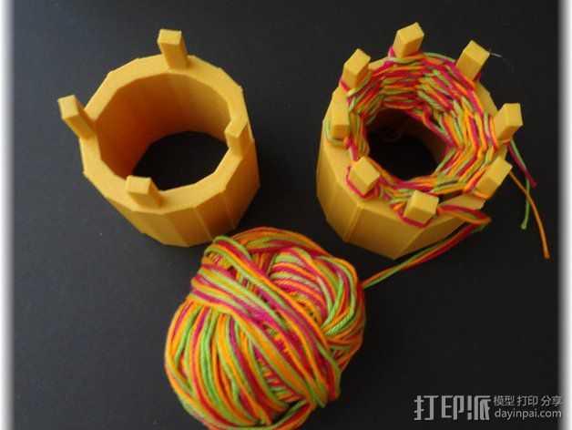 编织器线轴   3D打印模型渲染图