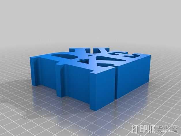 DUKE立体字母 3D打印模型渲染图