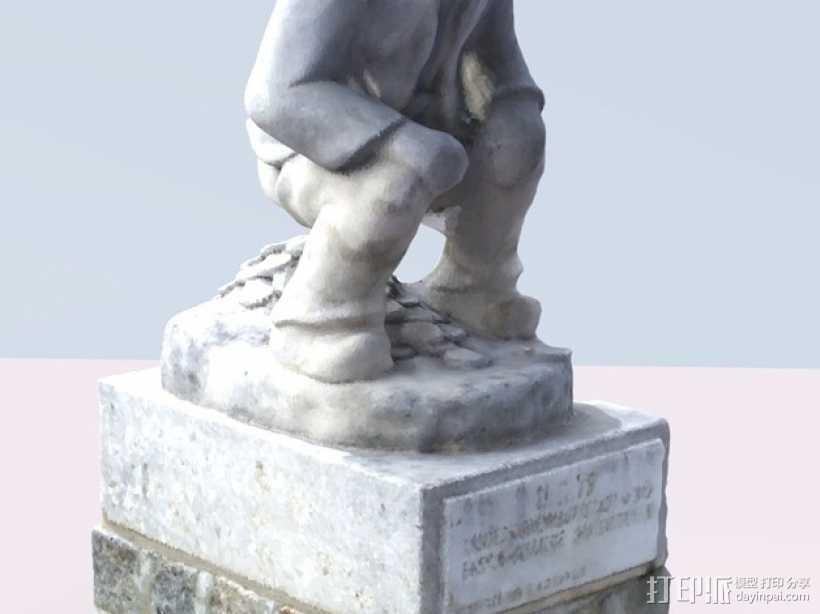 Geldscheißer雕塑 3D打印模型渲染图