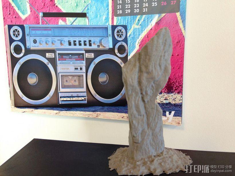 卡兰尼世巨石 3D打印模型渲染图