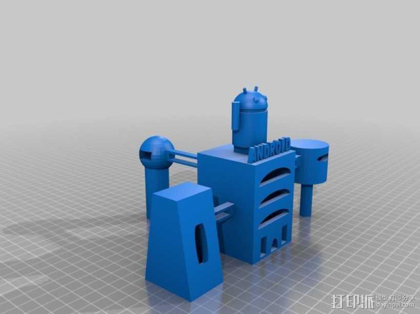 安卓总部 3D打印模型渲染图