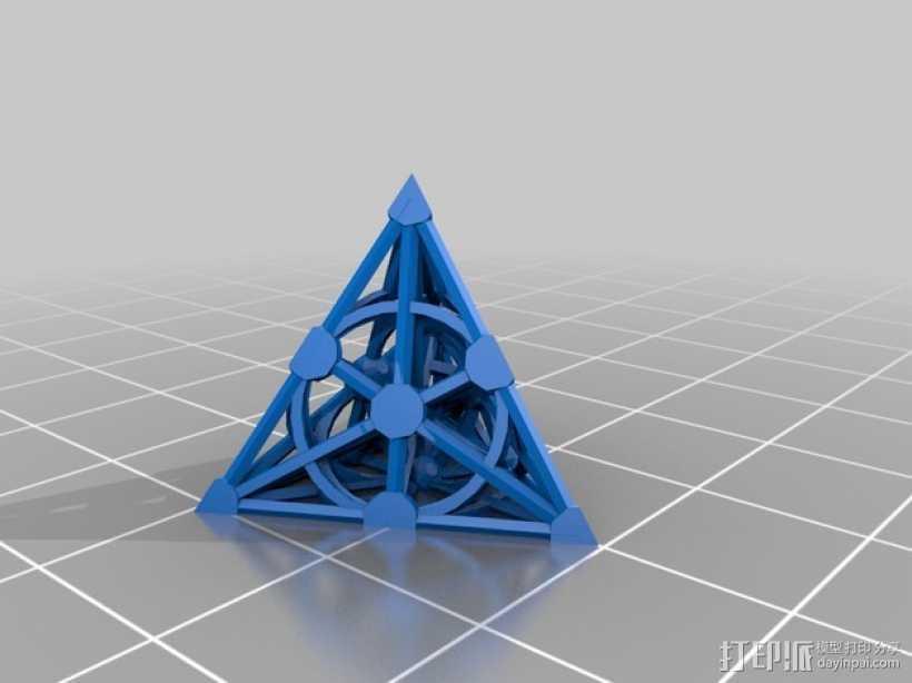 射影空间模型 3D打印模型渲染图