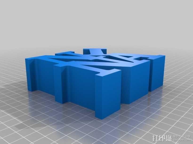 Nina打印字母 3D打印模型渲染图