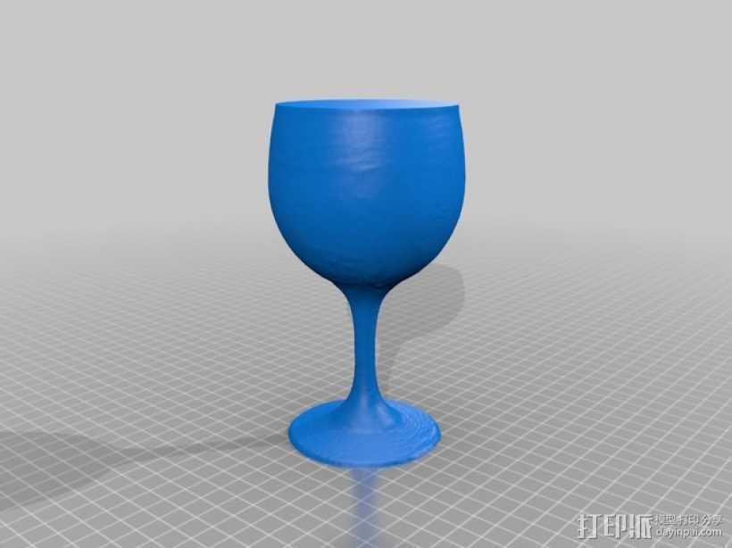 红酒杯 3D打印模型渲染图