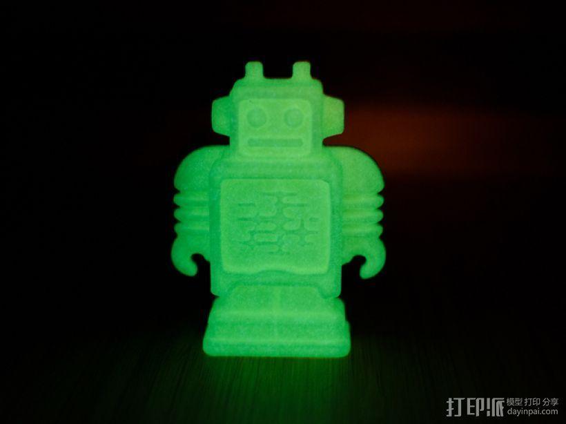 荧光ultimaker机器人冰箱磁铁 3D打印模型渲染图