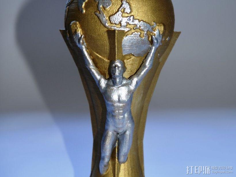 足球世界杯 3D打印模型渲染图