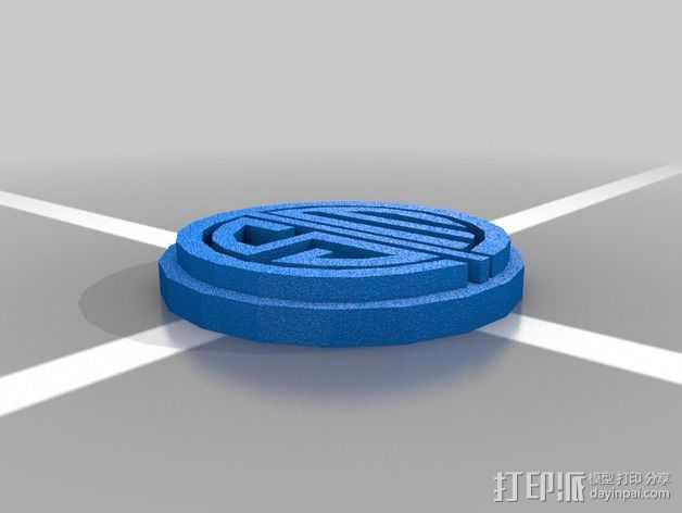英雄联盟TSM标志 3D打印模型渲染图