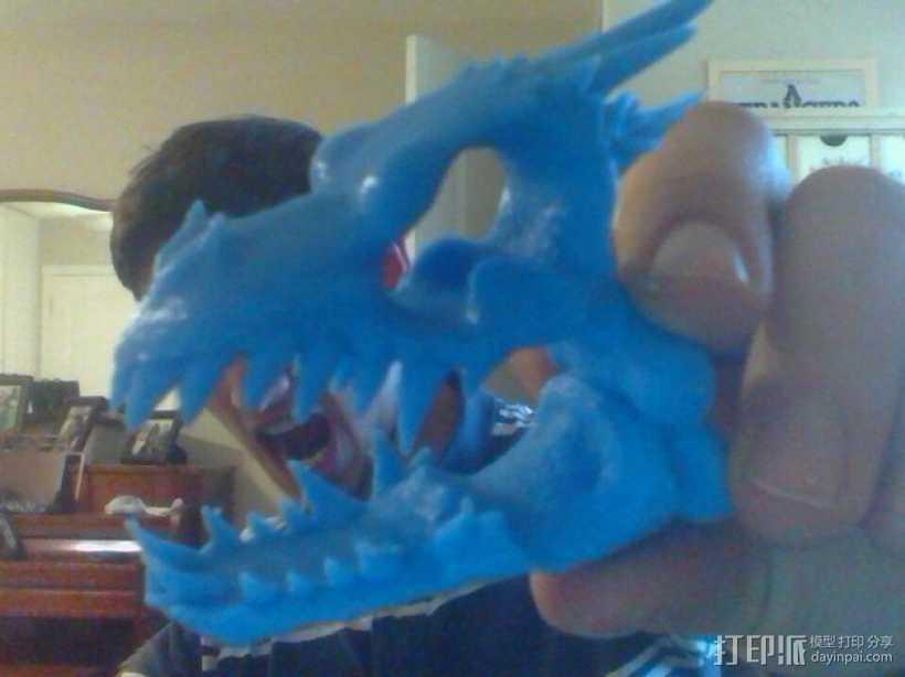 朋克风龙头骨 3D打印模型渲染图