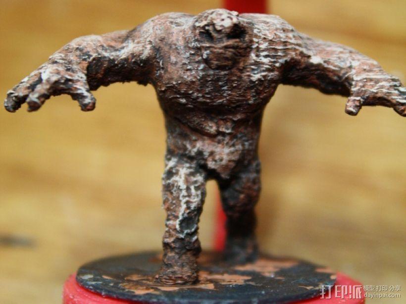 泥面人 3D打印模型渲染图