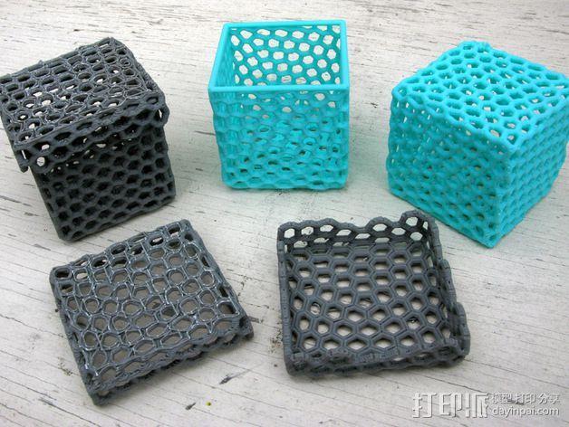 镂空小盒 3D打印模型渲染图