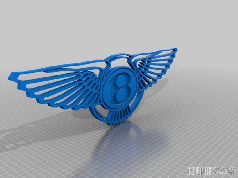 宾利 Logo 3D打印模型渲染图