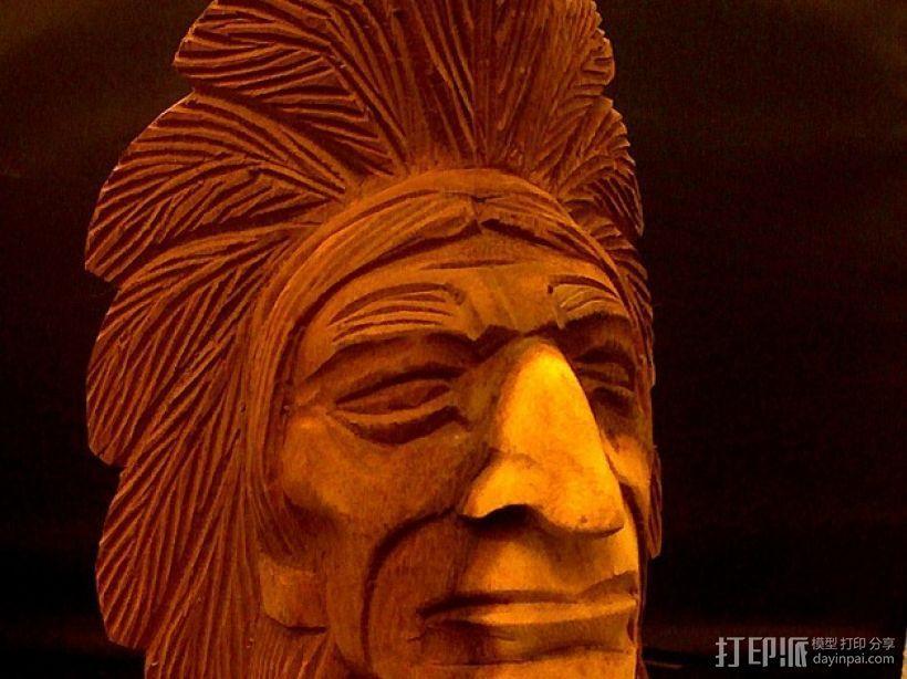 印第安人 3D打印模型渲染图