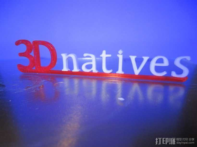 3Dnatives logo 3D打印模型渲染图
