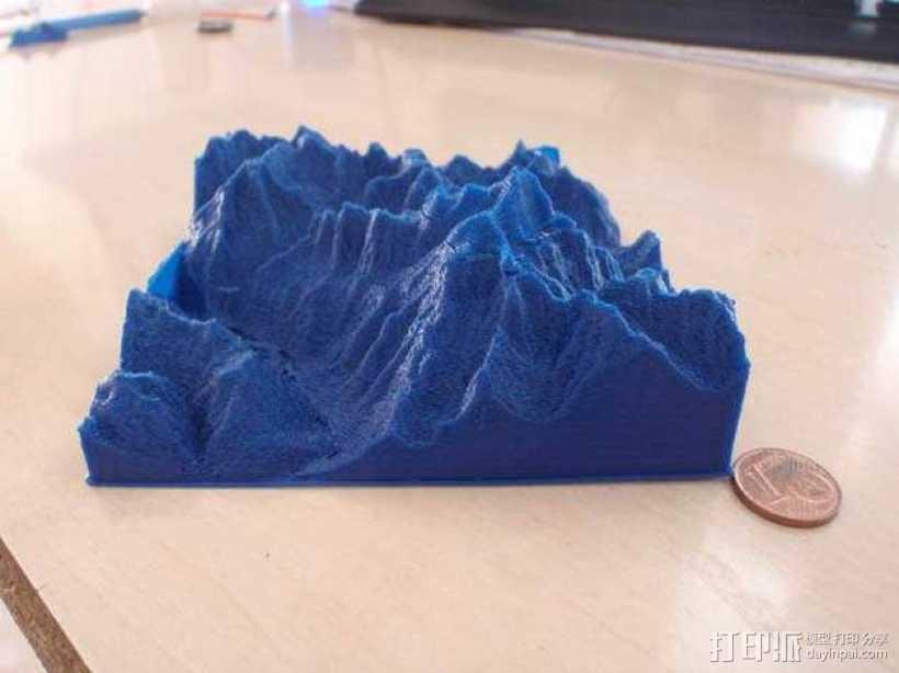 夏蒙尼-勃朗峰 3D打印模型渲染图