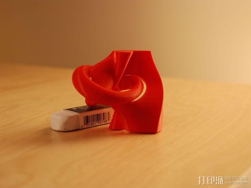三叶结 3D打印模型渲染图