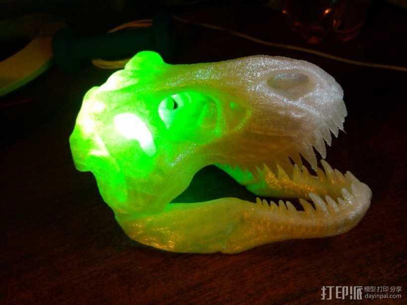 会发光的霸王龙头骨 3D打印模型渲染图