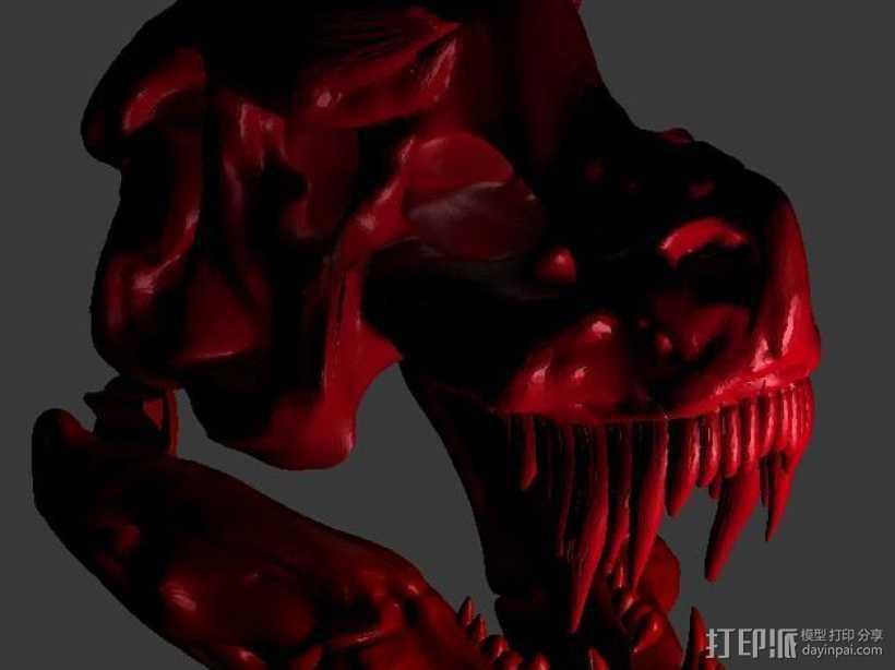 暴龙与地狱猎犬的结合 3D打印模型渲染图