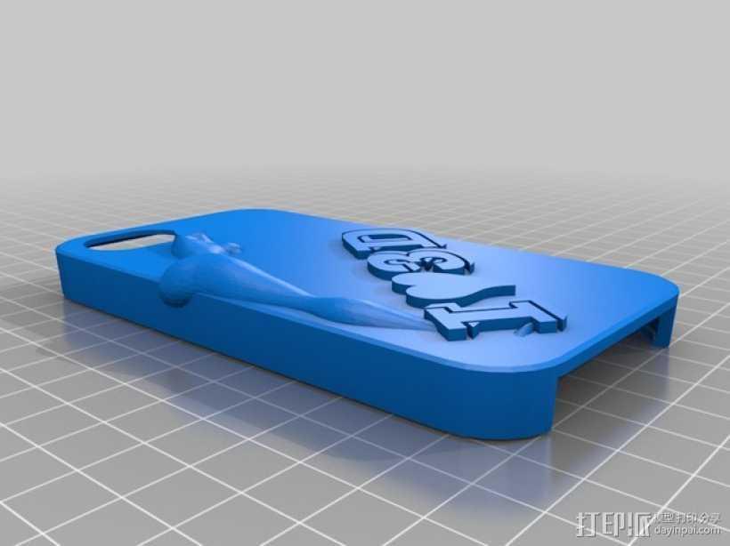 iPhone 43D手机壳 3D打印模型渲染图