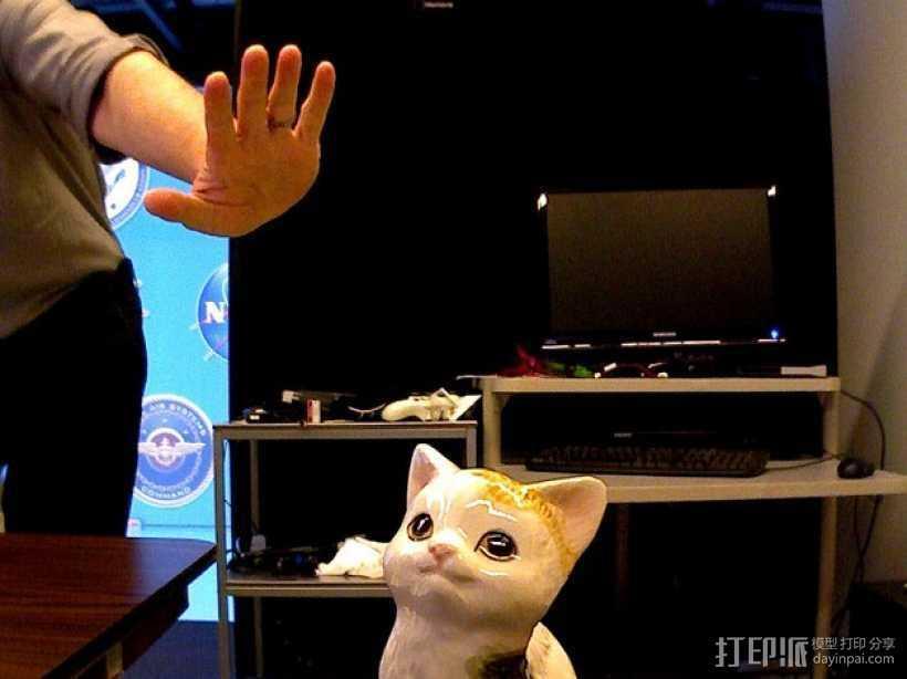 坐着的小猫  3D打印模型渲染图