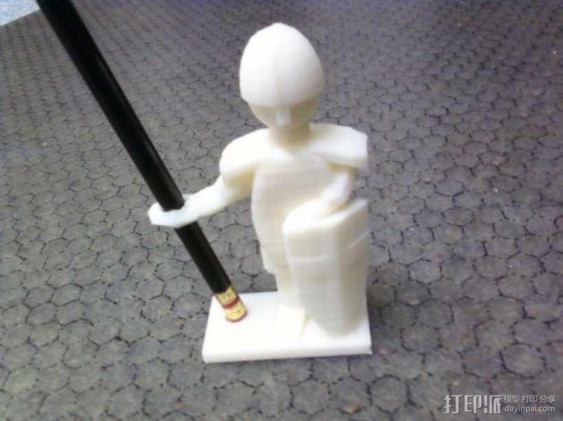 战士 笔筒 3D打印模型渲染图