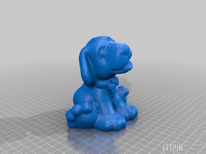 狗狗 3D打印模型渲染图