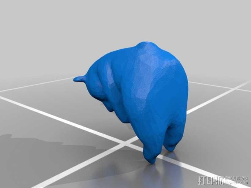 熊猫 3D打印模型渲染图