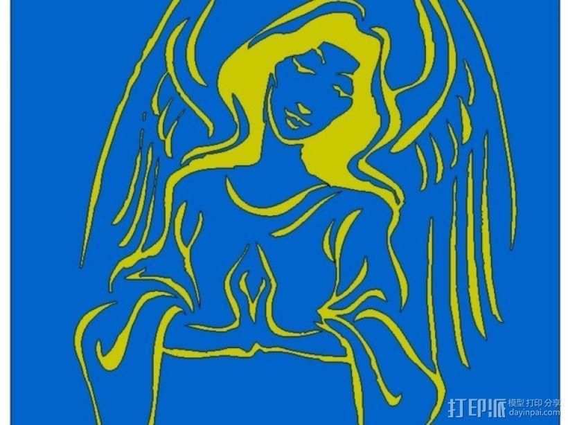 天使 装饰品 3D打印模型渲染图