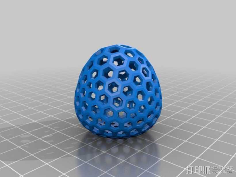 类球形 镂空多面体 3D打印模型渲染图