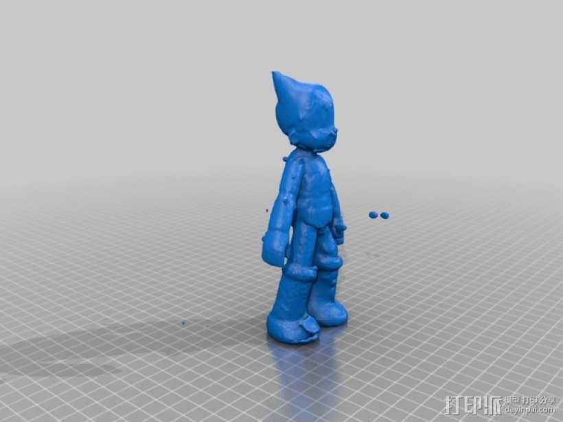 铁壁阿童木 3D打印模型渲染图