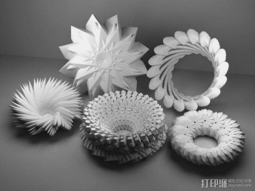 几何学 装饰品 3D打印模型渲染图