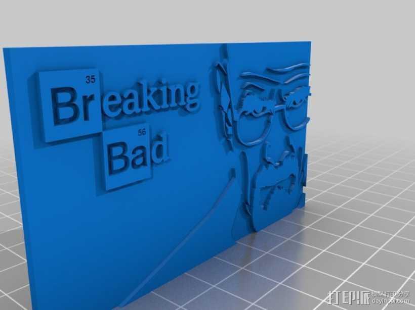 沃尔特怀特——绝命毒师 3D打印模型渲染图