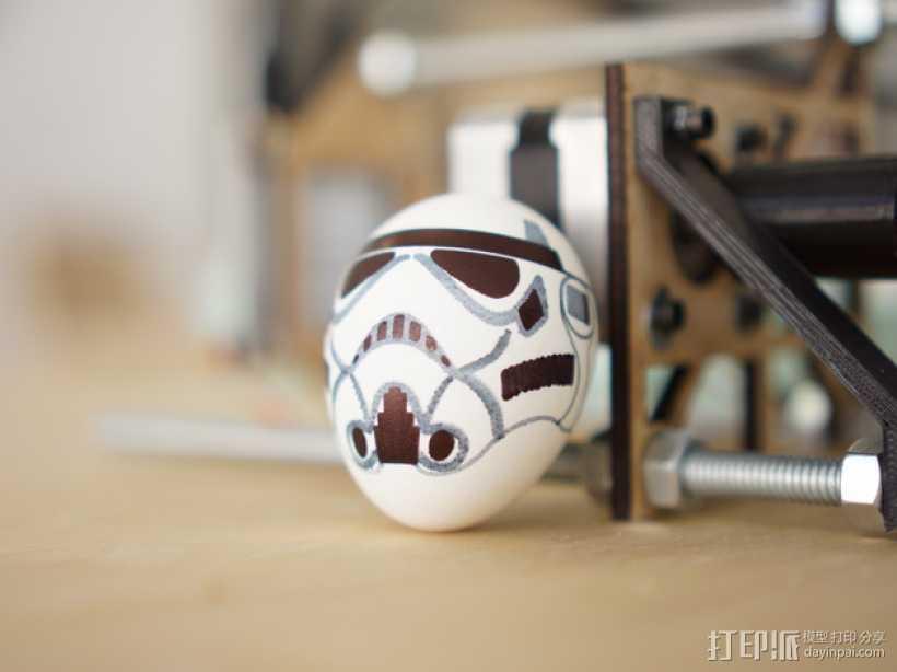 蛋蛋机器人——冲锋队 3D打印模型渲染图