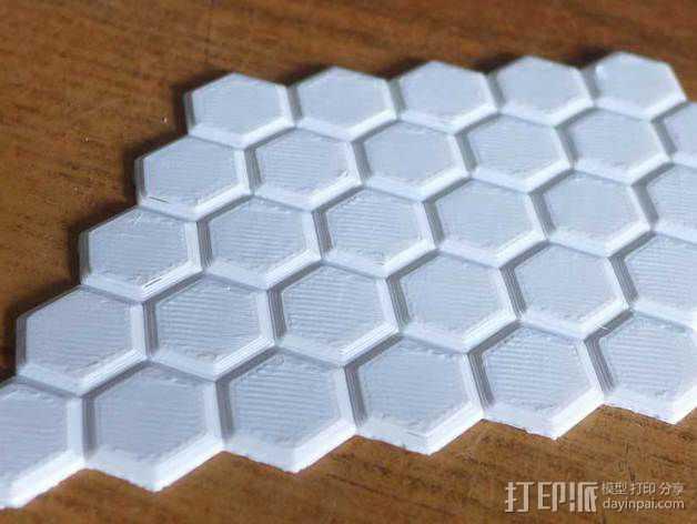 多边形网格 3D打印模型渲染图