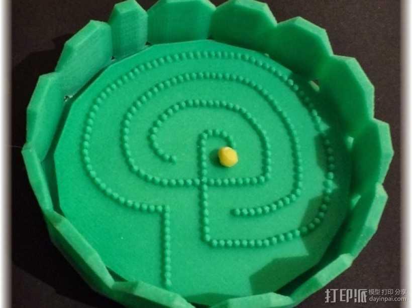 迷宫球游戏 3D打印模型渲染图