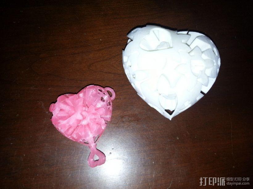迷你心形齿轮 3D打印模型渲染图