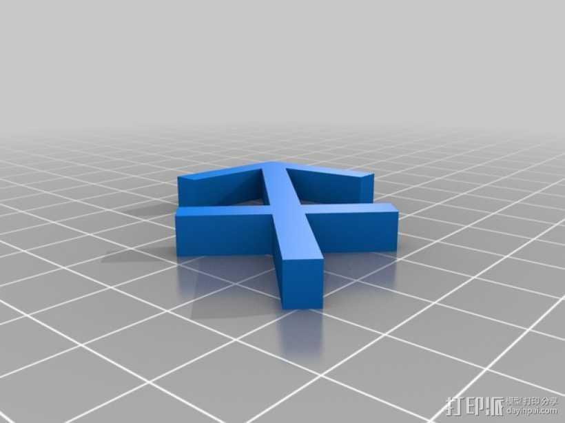 射手座标识 3D打印模型渲染图