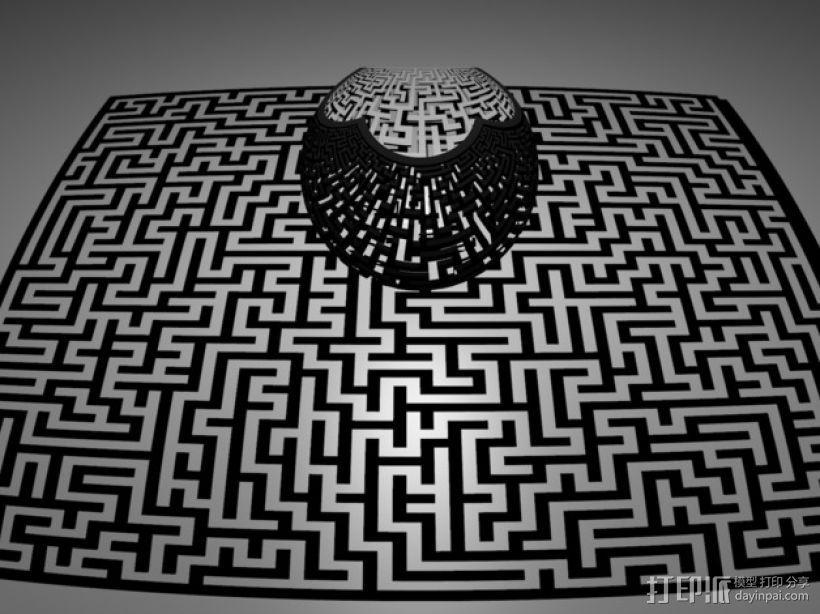 球极平面投影  3D打印模型渲染图