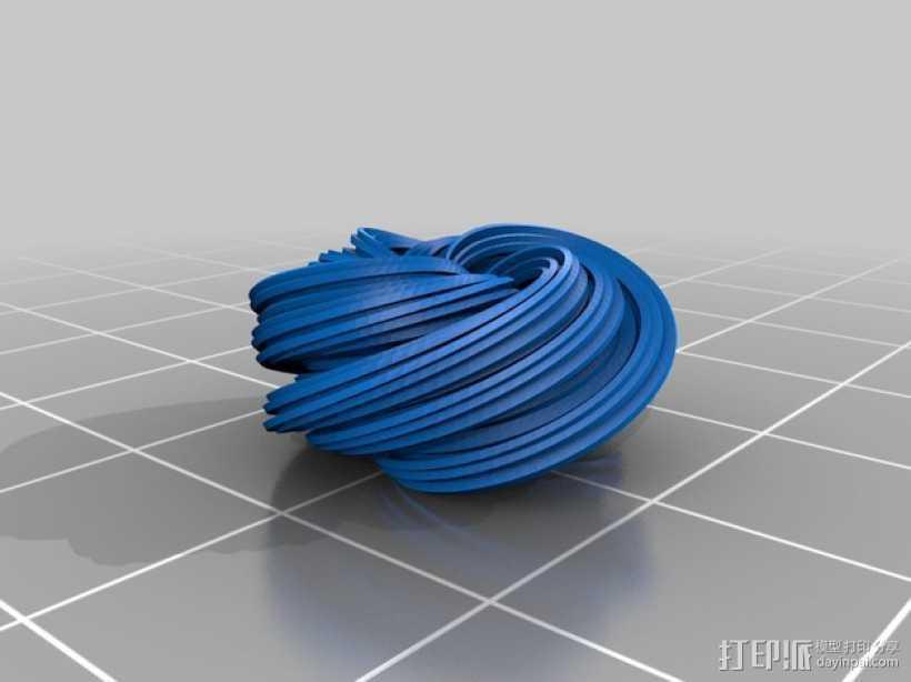 个性化 分形图案 3D打印模型渲染图